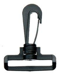 Musketonhaak - draaibaar 50mm zwart 50st