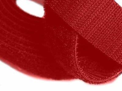 Back-to-Back-Haak-en-Lus-Rol-25mm-Rood-3mtr-rol klittenband klitteband klitterband